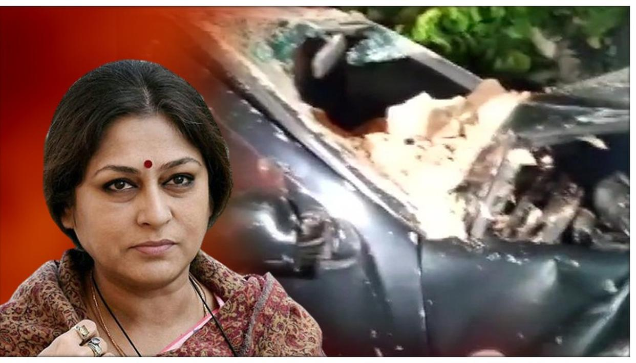 CLOSE SHAVE FOR MANY AS BJP MP ROOPA GANGULY'S SON RAMS CAR INTO WALL OF SOUTH KOLKATA CLUB