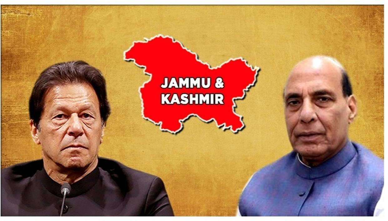 DEFENCE MINISTER RAJNATH SINGH SETS THE TERMS FOR IMRAN KHAN, SAYS 'IF THERE IS TALK WITH PAKISTAN THEN IT WILL BE ON POK'