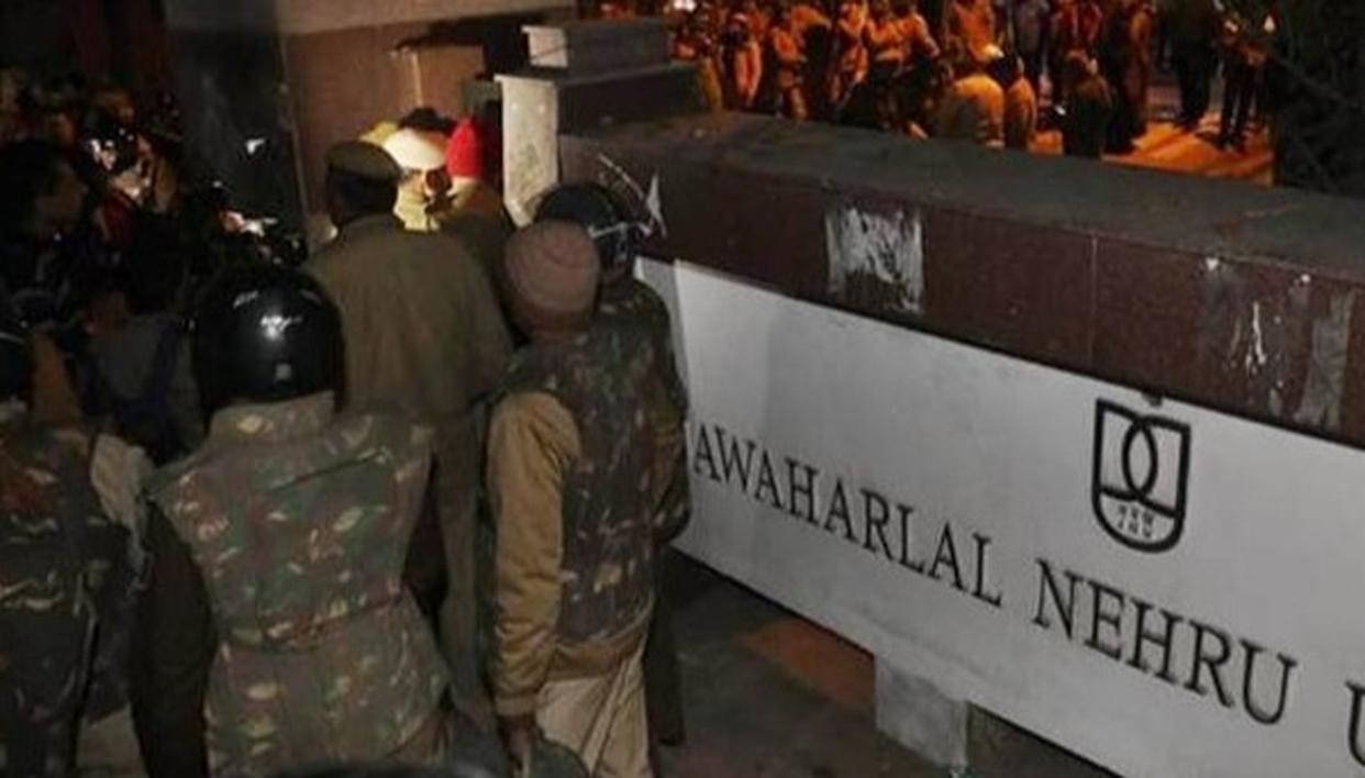 जेएनयू हिंसा: दिल्ली पुलिस ने अज्ञात लोगों के खिलाफ मामला दर्ज किया