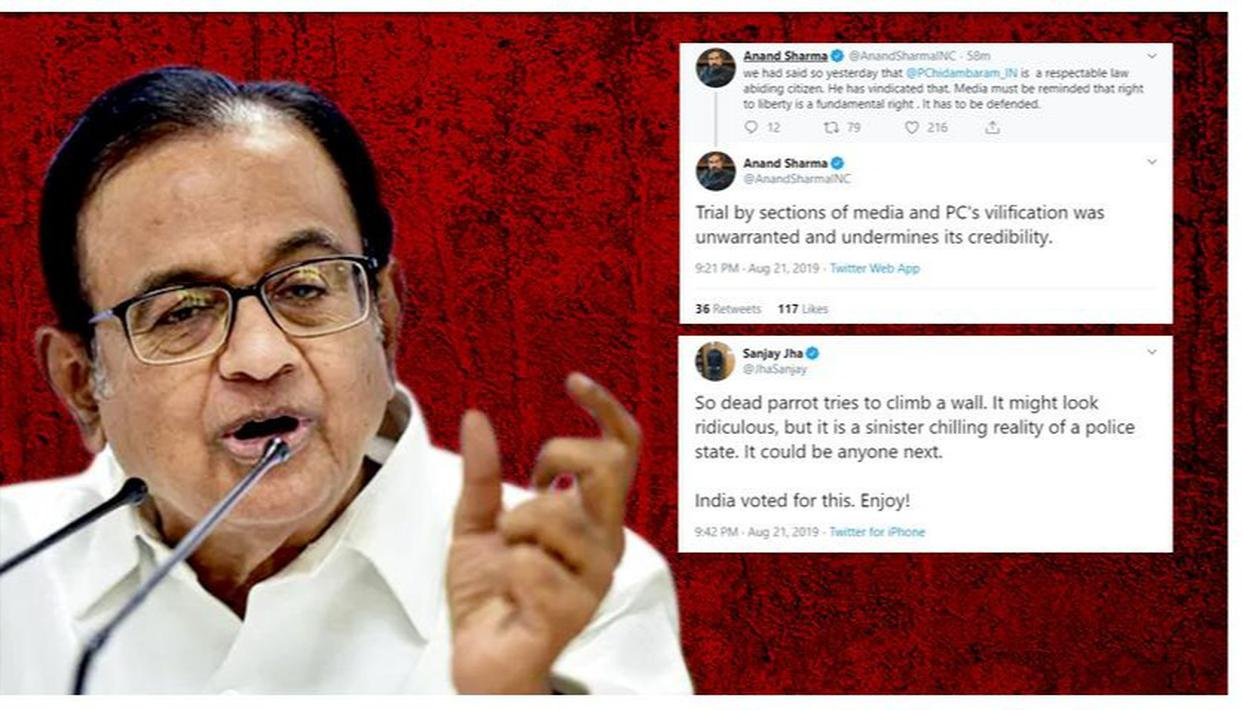CONGRESS LEADERS BACK CHIDAMBARAM