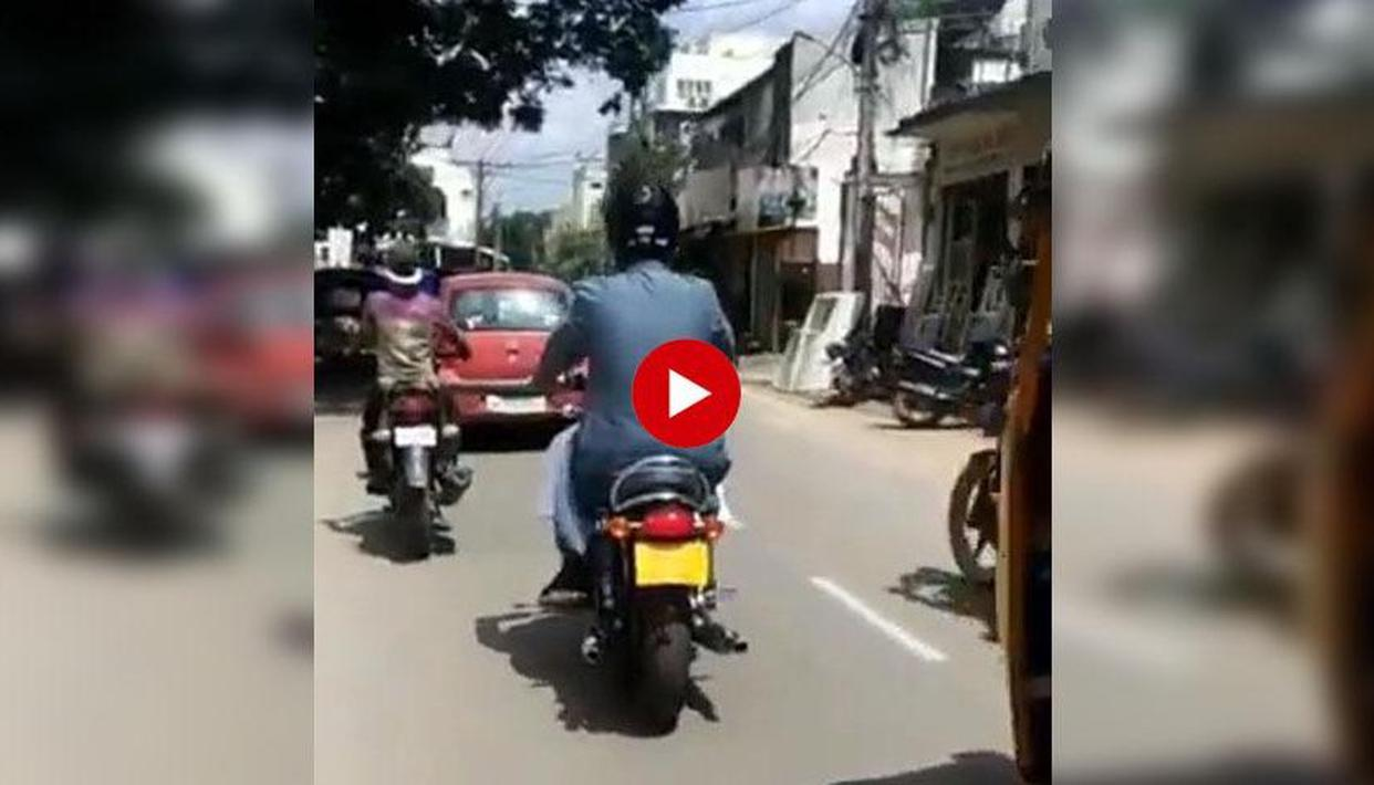 OWAISI RIDES BIKE SANS SECURITY!