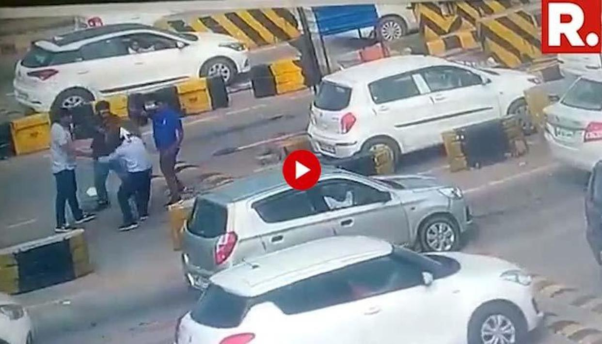 TOLL PLAZA SECURITY GUARD ATTACKED