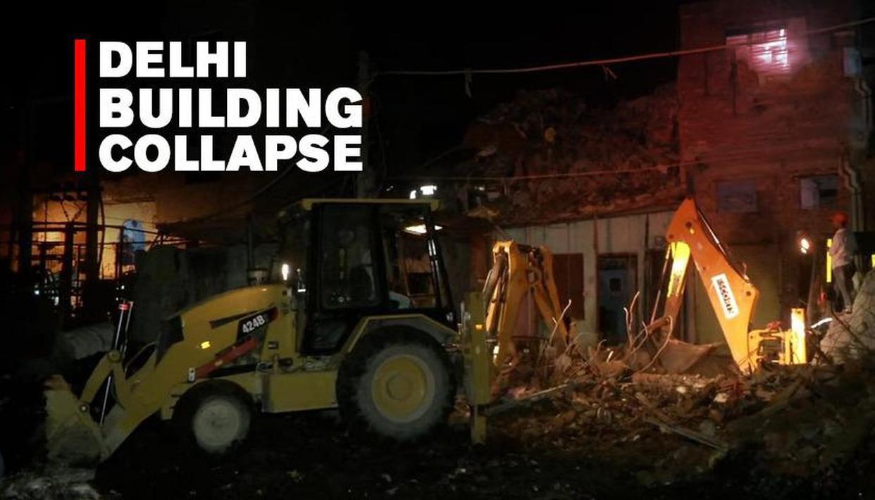 DELHI BUILDING COLLAPSE:1 DEAD