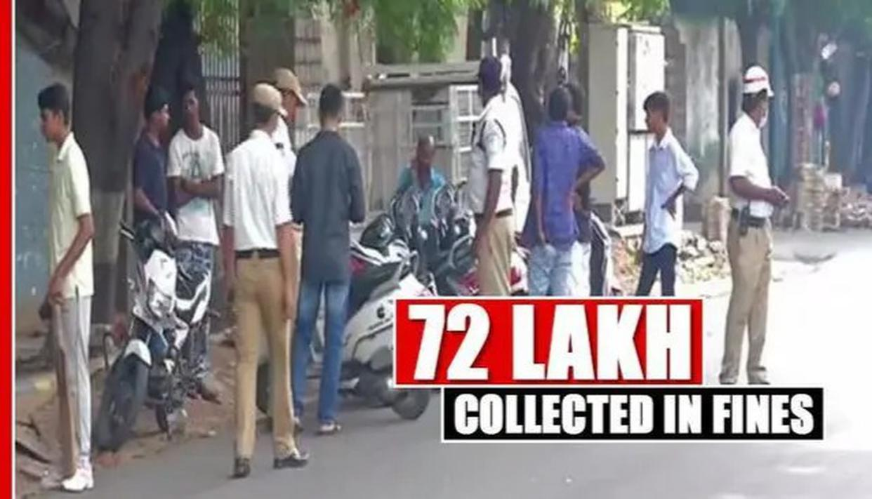 72 LAKHS COLLECTED IN FINES