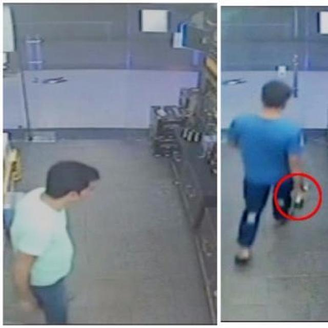 CCTV footage shows Vikas Barala purchasing alcohol