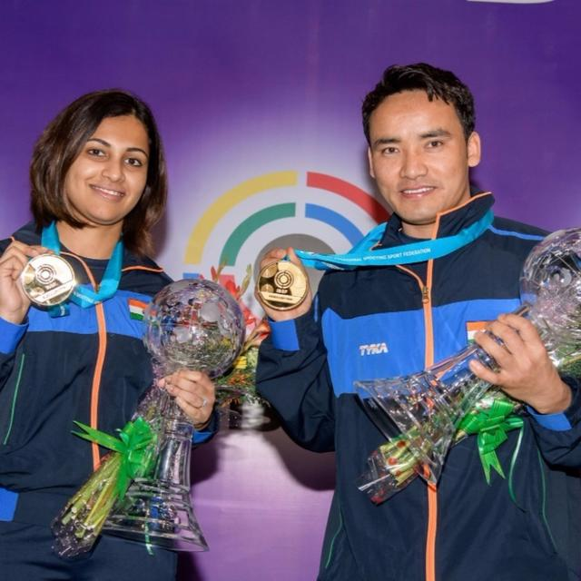 India strike gold at ISSF World Cup