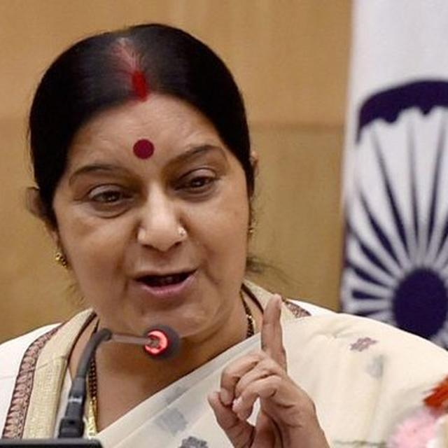 TRAPPED INDIANS SEEK SUSHMA'S HELP