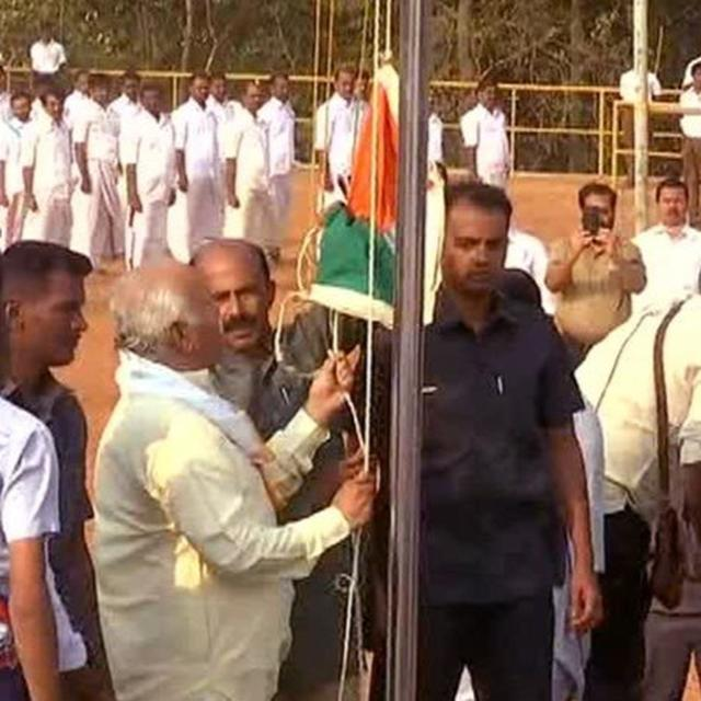 RSS CHIEF HOISTS FLAG IN KERALA