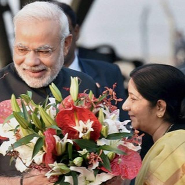 SHE IS AN OUTSTANDING LEADER: PM