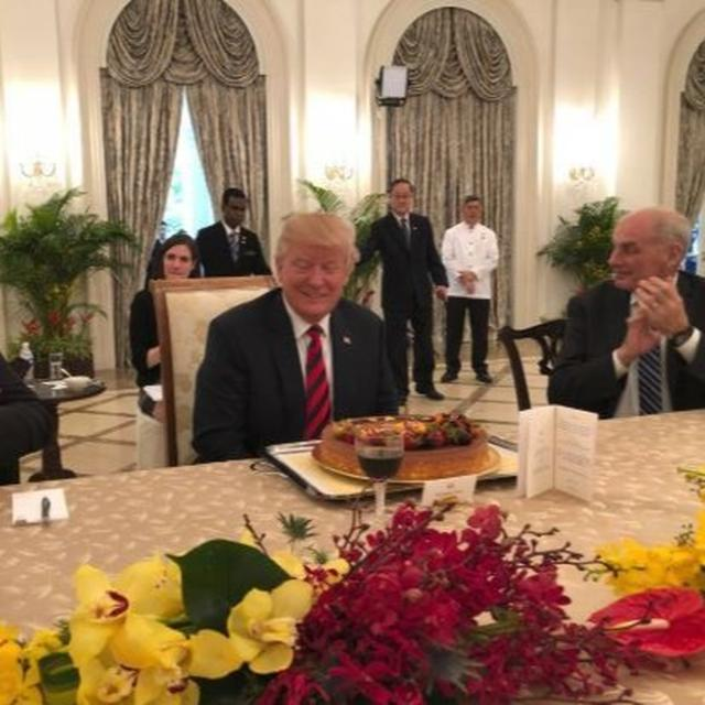 SNEAK-PEEK INTO TRUMP'S PRE-BIRTHDAY CELEBRATION