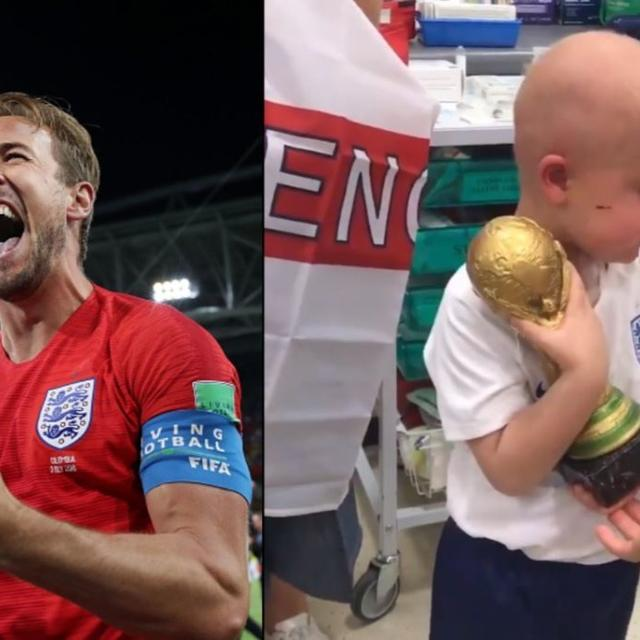 WORLD CUP: KANE'S SWEET PROMISE TO FAN SUFFERING FROM BRAIN TUMOUR
