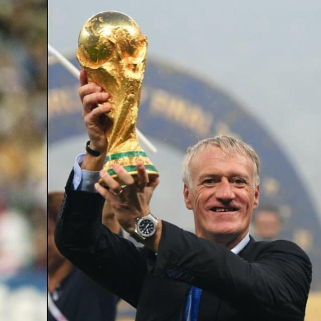 WORLD CUP: DESCHAMPS WINS WORLD CUP AS PLAYER AND MANAGER