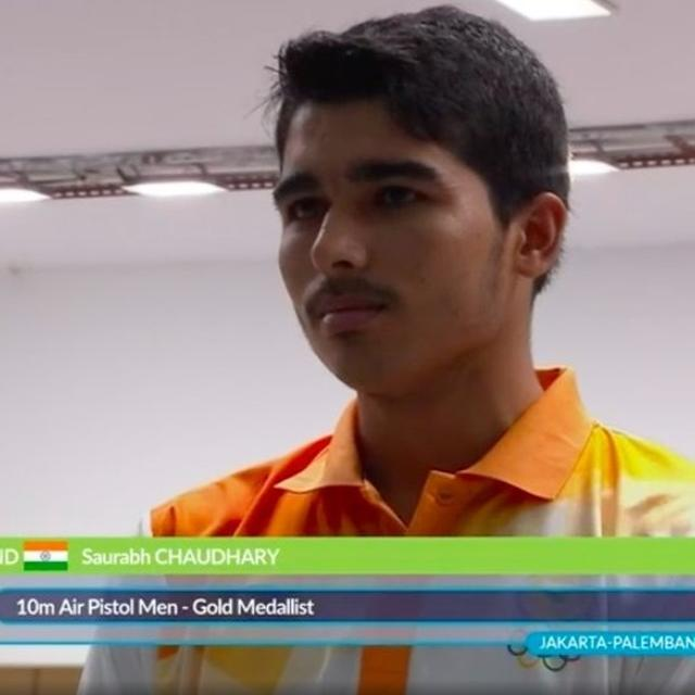 SAURABH WINS GOLD WITH RECORD SCORE
