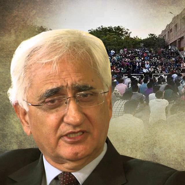 WATCH: KHURSHID SLAMS INDIA'S TREATMENT OF JNU