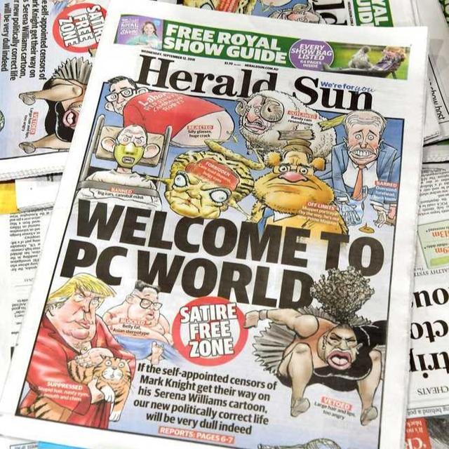 AUSTRALIAN NEWSPAPER DEFENDS CONTROVERSIAL SERENA WILLIAMS CARTOON