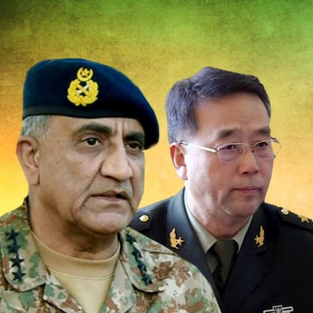PAKISTAN ARMY CHIEF BAJWA HOLDS TALKS WITH CHINESE COUNTERPART ON DEFENSE TIES, CPEC