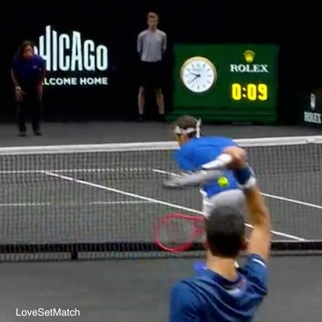 WATCH: DJOKOVIC HITS FEDERER'S BACK