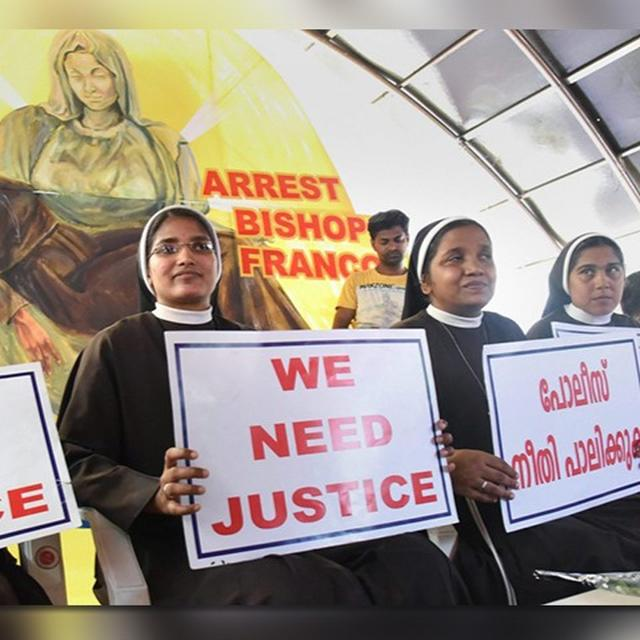 ASKED TO KEEP AWAY FROM CHURCH DUTIES AFTER TAKING PART IN PROTEST AGAINST BISHOP: NUN