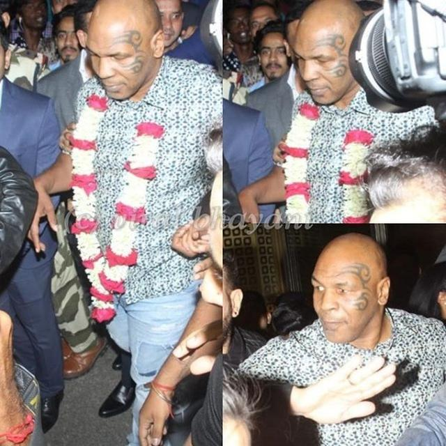 MIKE TYSON ARRIVES IN INDIA