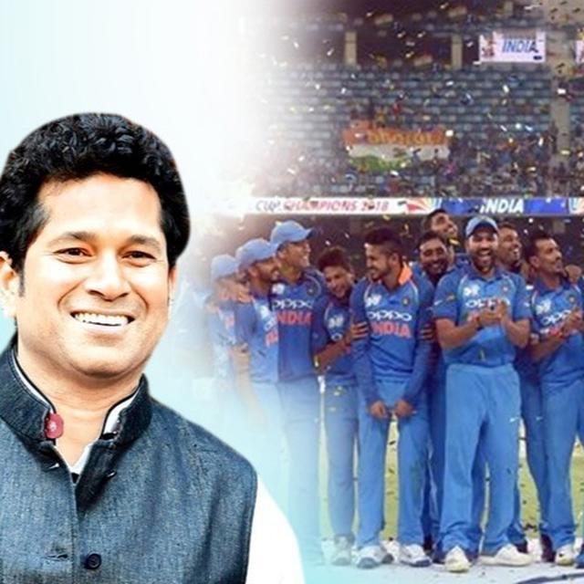 SACHIN TENDULKAR PRAISES INDIA'S ALL-ROUND SHOW AT ASIA CUP 2018