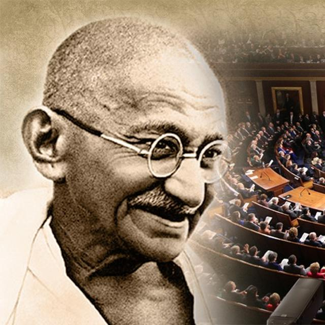 MOVE TO POSTHUMOUSLY AWARD THE US CONGRESSIONAL GOLD MEDAL TO MAHATMA GANDHI