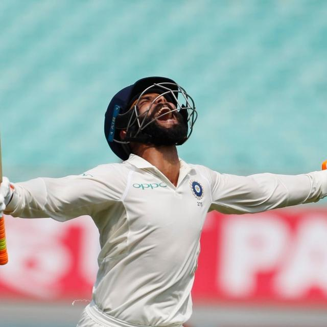 INDIA V WEST INDIES: RAVINDRA JADEJA SCORES MAIDEN TEST TON, PULLS OFF SWORD CELEBRATION