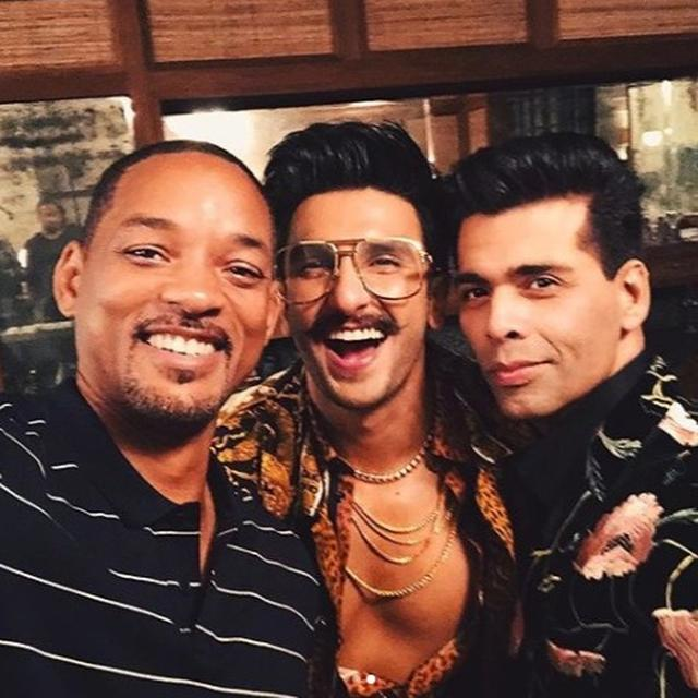 WILL SMITH LEARNS THE ROPES OF BOLLYWOOD FROM MASTERS KARAN JOHAR AND RANVEERSINGH