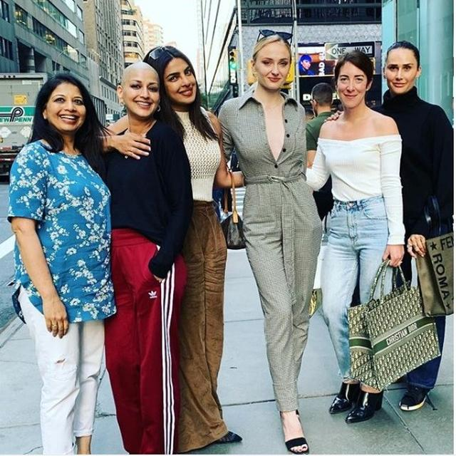 SOPHIE TURNER AND PRIYANKA CHOPRA MEET SONALI BENDRE