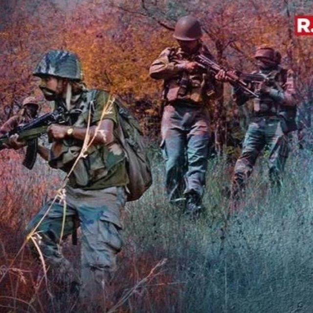 THREE TERRORISTS GUNNED DOWN BY FORCES