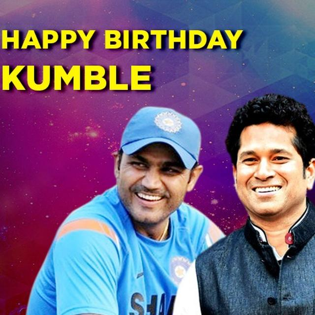 HAPPY BIRTHDAY KUMBLE: SEHWAG, TENDULKAR LEAD WAY TO PAY TRIBUTE
