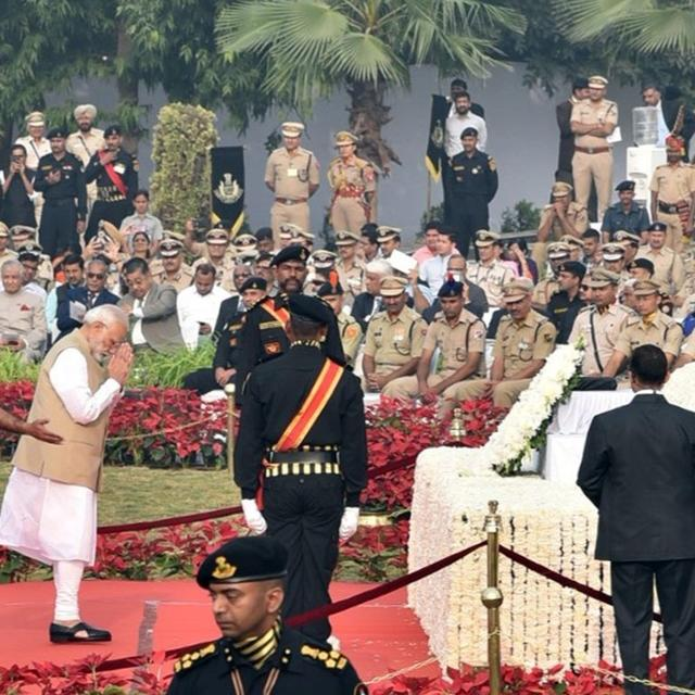 WATCH: PM MODI GETS EMOTIONAL WHILE PAYING TRIBUTES TO MARTYRS