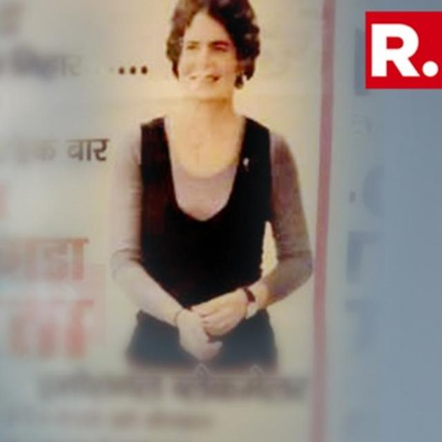 'MISSING PRIYANKA' POSTERS APPEAR IN RAE BARELI; CONG ALLEGES MISCHIEF