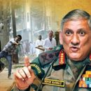 ARMY CHIEF ISSUES STERN WARNING TO STONE PELTERS