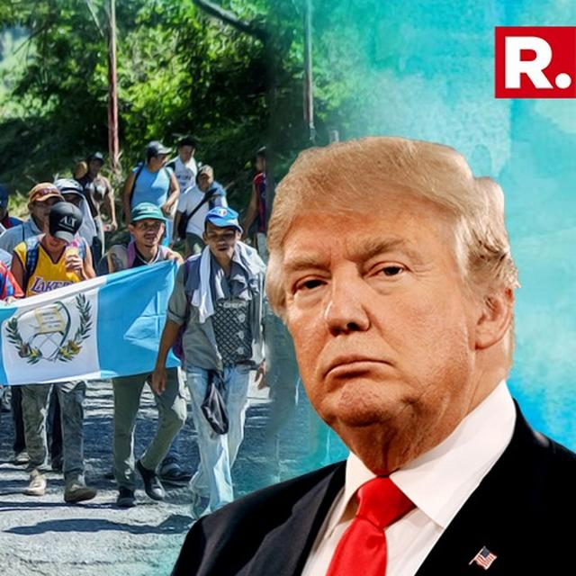 DONALD TRUMP SAYS HE WANTS PEOPLE OF CARAVAN TO COME INTO THE US LEGALLY