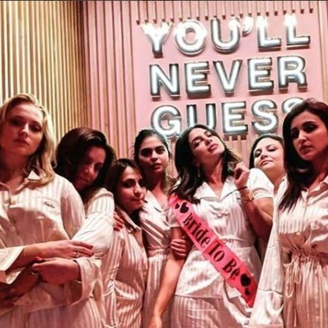 BRIDE TO BE PRIYANKA CHOPRA CONCLUDES HER BACHELORETTE AS SHE ENJOYS A PYJAMA PARTY WITH HER GIRL GANG