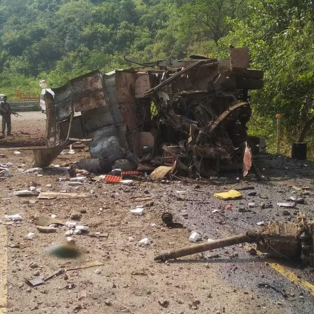 MAOIST ATTACK ON CISF BUS IN DANTEWADA