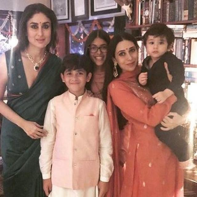 'MAMAS AND THEIR BABIES': KAREENA KAPOOR KHAN, KARISMA KAPOOR AND FAMILY LIGHT UP DIWALI IN STYLE