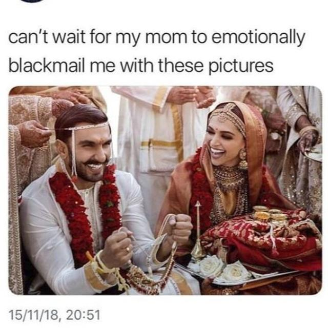 THE MEME BRIGADE STRIKES AGAIN AS RANVEER-DEEPIKA'S WEDDING PICTURES FINALLY COME OUT, TAKE A LOOK!