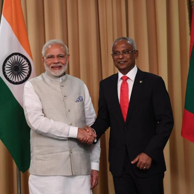 PM Modi, new Maldivian Prez Solih hold talks; vow renewal of close bilateral ties