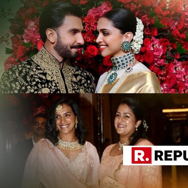 DEEPIKA PADUKONE-RANVEER SINGH WEDDING RECEPTION: ANIL KUMBLE, PV SINDHU, OTHERS ADD STAR POWER TO THE GRAND AFFAIR