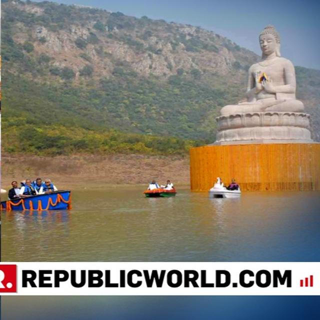 BIHAR CM NITISH KUMAR UNVEILS 70-FEET- TALL STATUE OF LORD BUDDHA IN BIHAR