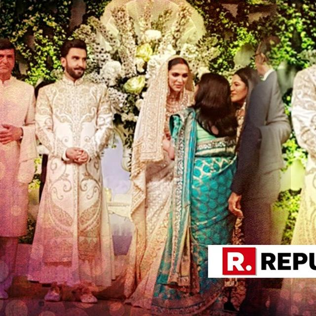 HERE ARE THE INSIDE PICTURES FROM THE DEEPIKA PADUKONE AND RANVEER SINGH'S MUMBAI RECEPTION