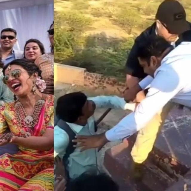 WATCH: MEDIA PERSONS AND BODYGUARDS BRAWL OUTSIDE PRIYANKA CHOPRA-NICK JONAS WEDDING VENUE, POLICE CALLED IN