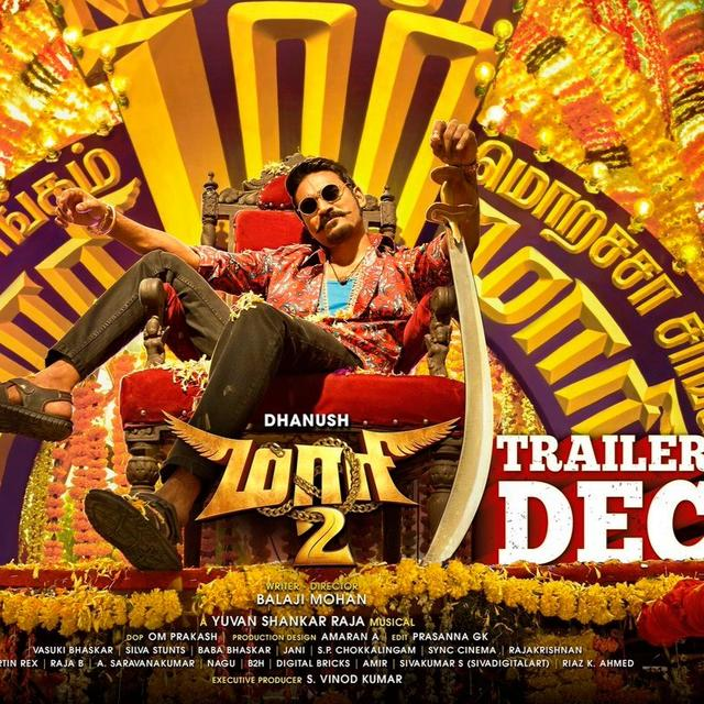 'WAITING THALAIVA', CLAIM NETIZENS AS DHANUSH DROPS THE RELEASE DATE OF 'MAARI 2' WITH A SWAGTASTIC POSTER