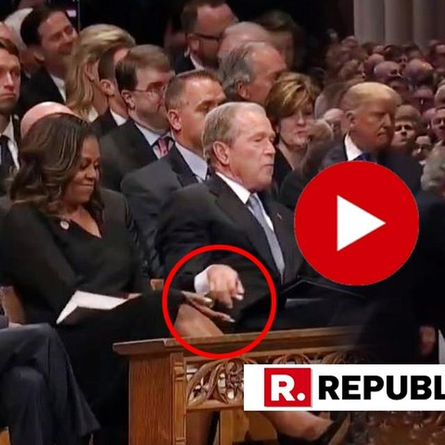 WATCH: GEORGE BUSH SLIPS MICHELLE OBAMA CANDY (AGAIN!) AT HIS FATHER'S FUNERAL
