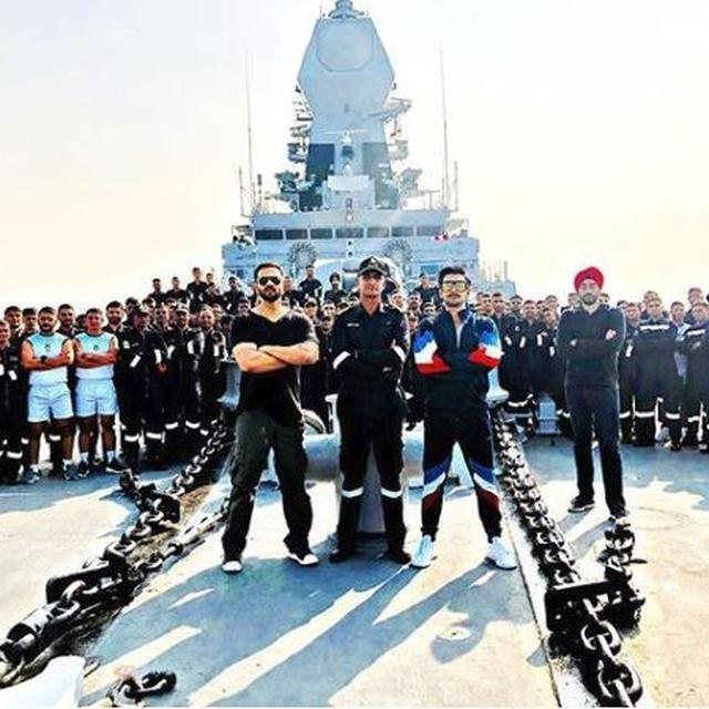 AHEAD OF SIMMBA'S RELEASE, RANVEER SINGH HAS A RENDEZVOUS WITH THE INDIAN NAVY