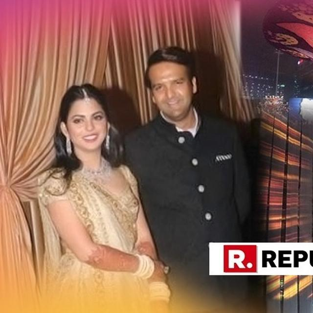 INSIDE VISUALS: FROM MAGNIFICENT CANDLE STANDS TO BEAUTIFUL FLOWER DECORS, ISHA AMBANI'S RECEPTION BASH IS A DREAMY AFFAIR