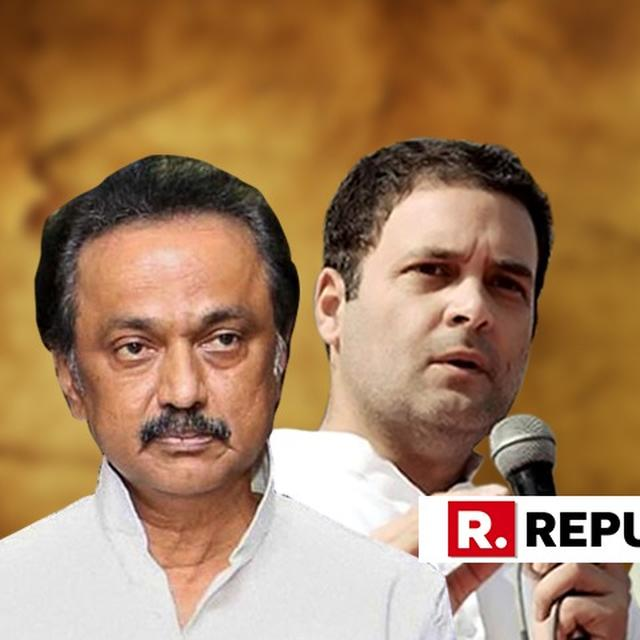 """""""I PROPOSE THE NAME OF RAHUL GANDHI FOR THE PM CANDIDATURE,"""" SAID MK STALIN"""