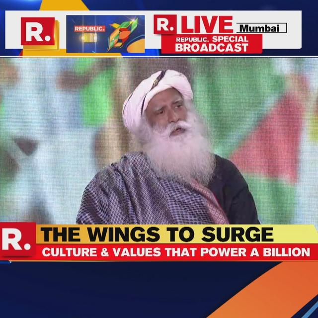 """NATIONALISM IS A WESTERN IDEA,"" SAID SADHGURU AT REPUBLIC SUMMIT"