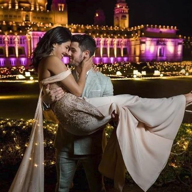 UNSEEN PICTURE: PRIYANKA CHOPRA AND NICK JONAS LOOK ALL IN SMILES IN THIS PICTURE FROM THEIR WEDDING FESTIVITIES
